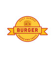 vintage burger logo designs inspiration vector image