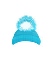 winter hat icon on white background vector image vector image