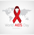 world aids day icon vector image