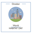 World Habitat Day vector image vector image
