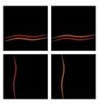 Black Background Set With Waves eps10 vector image