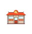 flat street food shop with junk food vector image