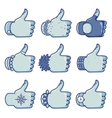 Set of like signs in different styles vector image