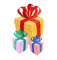 bunch gifts vector image