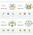 flat line business concepts set vector image
