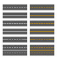 asphalt roads with yellow and white lines vector image