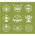 Set of golf club logos labels and emblems vector image