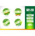 100 Eco Badge Logo vector image vector image