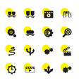 16 motion icons vector image vector image