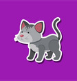 a simple cat sticker vector image vector image