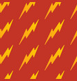 abstract yellow seamless thunder pattern flat vector image