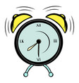 alarm clock icon cartoon vector image vector image