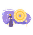 astrology zodiac flat composition vector image vector image