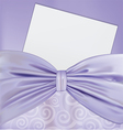 Background with a bow and a blanks white paper vector image vector image