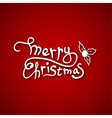beautiful text design merry christmas on red vector image vector image