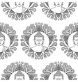 Buddha with Lotus Seamless Pattern vector image vector image