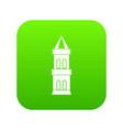 castle tower icon digital green vector image vector image