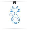 cat line vector image