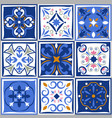 ceramic tiles vintage patterns spanish vector image vector image