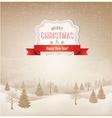 christmas winter landscape background vector image vector image