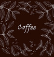 coffee shop design with branch and berries vector image vector image