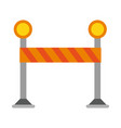 construction barrier isolated vector image vector image