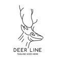 deer head outline logo vector image