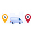 delivery van shipping cargo according to delivery vector image vector image