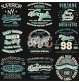 Denim typography t-shirt graphics vector image vector image