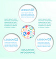 educational abstract infographics vector image vector image