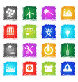 electricity icon set vector image vector image