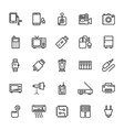 Electronics Colored Icons 6 vector image