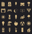 energy icons set simple style vector image vector image