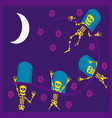 eskeletons day of the dead vector image vector image