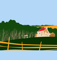 far from city house at edge forest vector image vector image