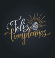 feliz cumpleanos translated happy birthday vector image vector image