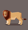 flat geometric lion vector image