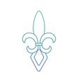 fleur de lis mardi gras festival carnival symbol vector image