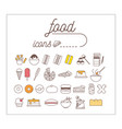 food icon set infographic and design vector image vector image