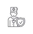 health insurance line icon concept health vector image vector image
