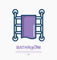 heated towel rail thin line icon vector image