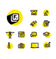 icons on a business theme information and help vector image vector image