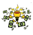 idea make money vector image