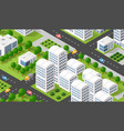 isometric 3d city urban vector image vector image