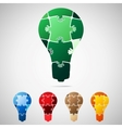Lamp from puzzle pieces vector image vector image