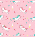 magic unicorn seamless pattern vector image vector image