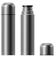 metal vacuum thermos flask vector image