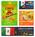 mexican holiday card of cinco de mayo fiesta party vector image vector image