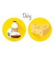 milk cheese vector image