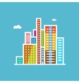 Modern Buildings Isolated on Blue Background vector image vector image